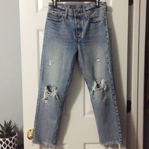 Distressed Wedgie Fit Levi's Jeans